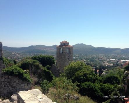 Kaleden şehir ve saat kulesi