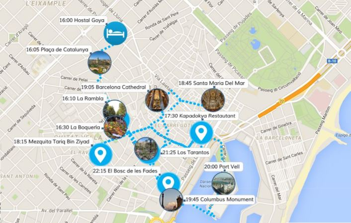 Barselona 1. Gün Harita