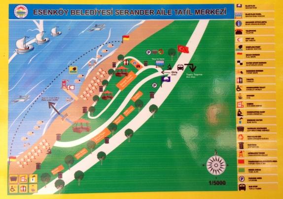 Serander plaj yerleşimi