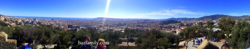 Park Güel'den Şehir Manzarası